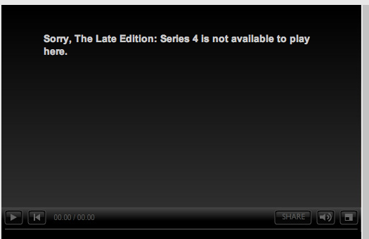 BBC iPlayer Programme Not Available