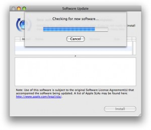 A determinate progress bar from Mac OS X
