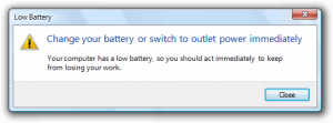 A typical Windows Aero modal warning, from the Microsoft Windows UX Guide